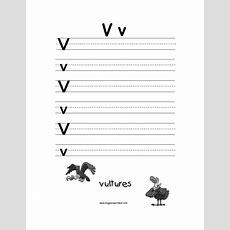 Letter V Alphabet Worksheets