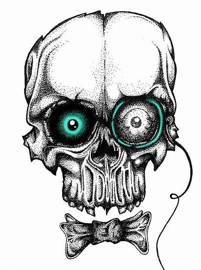 Skull Pointillism Halloween Contemporary Skulls Solrac Lawrence