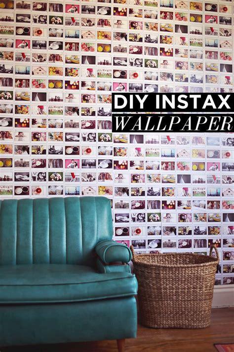 diy instax wallpaper  beautiful mess