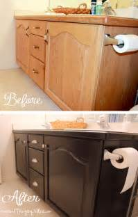 bathroom vanity makeover ideas oak cabinet makeovers on general finishes java gel and gel stains