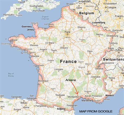 Karte Von Südfrankreich