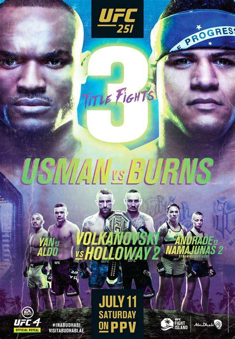 ufc  poster  usman  burns featuring championship