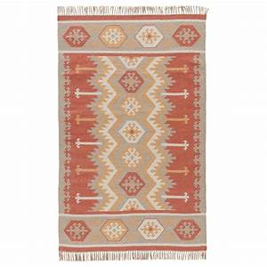 orange sawtooth stripe indoor outdoor rug 8 x 10