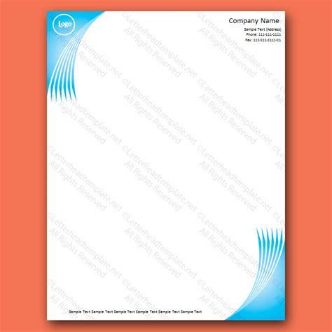 wave  blue letterhead template