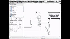 Inserting Proximity Sensor - Electro-hydraulics  Automation Studio U2122 Educational Edition