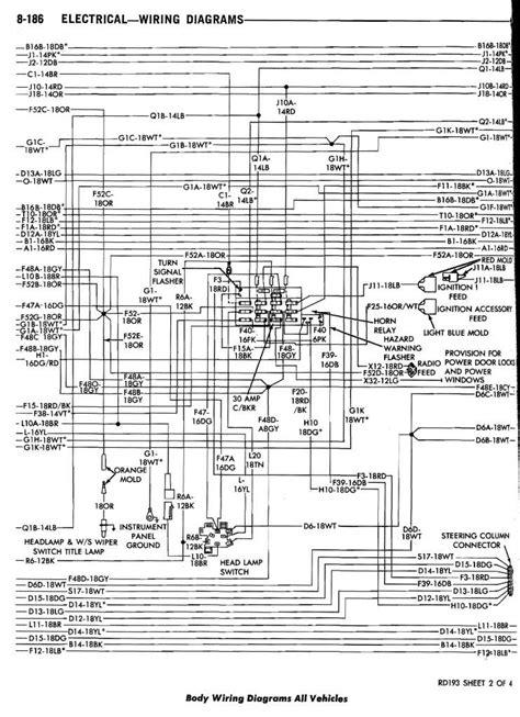 1978 dodge ramcharger wiring diagram wiring diagram for free