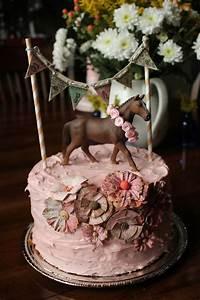 2 Layer Cake 2nd Birthday Horse Themed Cake Cakes