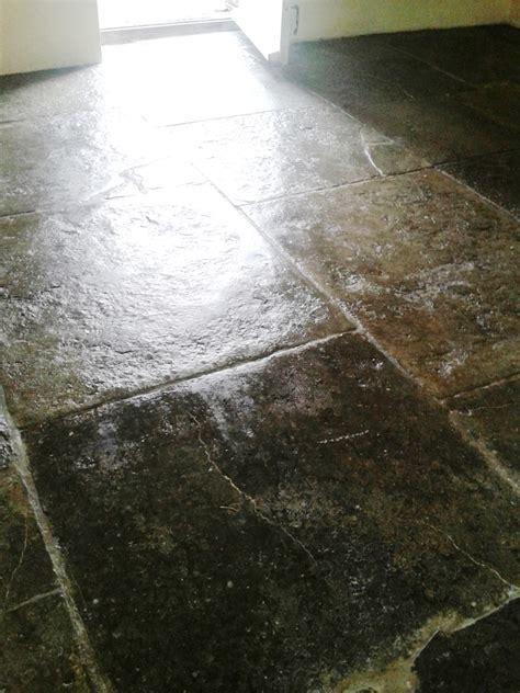black limestone floor cleaning and polishing tips