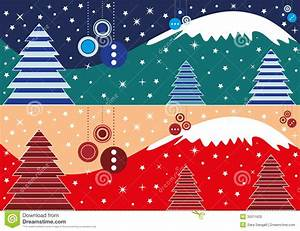 Winter Themed Backgrounds Christmas Banner Stock Vector Illustration Of Celebration