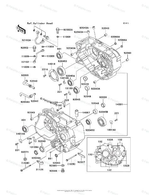 Kawasaki 250 Mojave Wiring Diagram by Kawasaki Atv 2003 Oem Parts Diagram For Crankcase