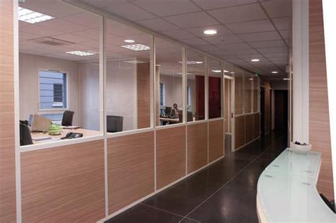 cloison bureaux cloison de bureau amovible vitree semi vitree pleine