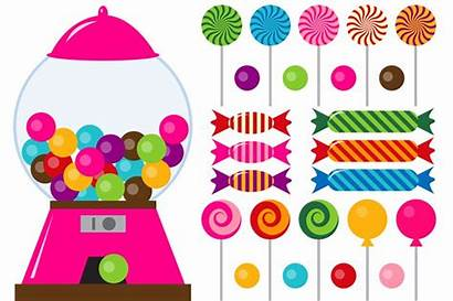 Candy Clip Candyland Candies Clipart Digital Illustrations