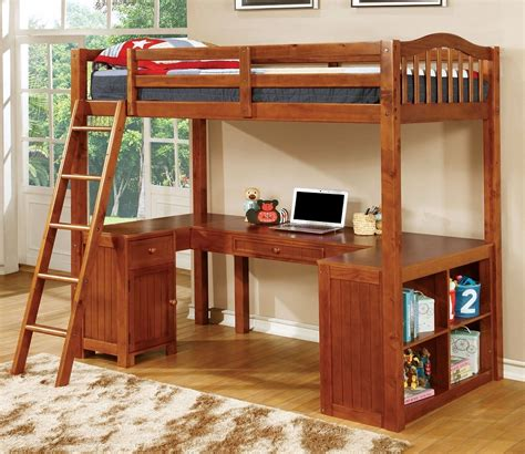 bed with built in desk dutton oak twin workstation loft bed with built in desk