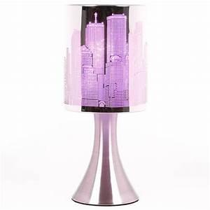 Lampe De Chevet Violet : lampe touch new york avec grattes ciel de new york ~ Teatrodelosmanantiales.com Idées de Décoration