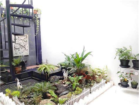 desain taman rumah kecil minimalis mungil lahan sempit contoh menarik