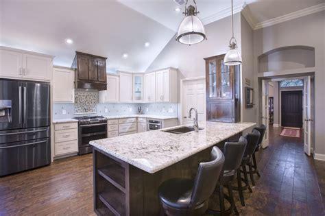 open concept kitchen   fresh  improved