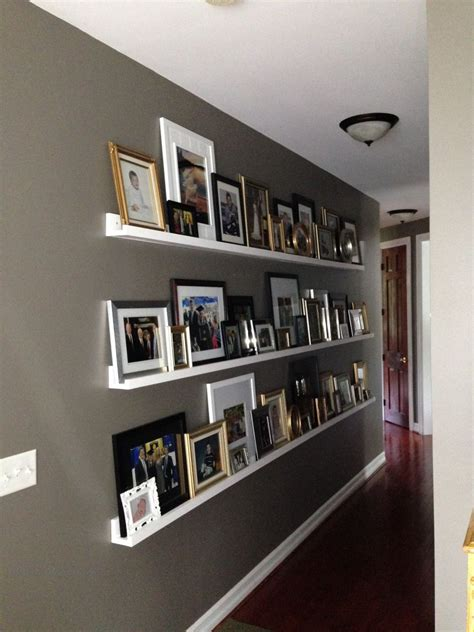Decorating Ideas For Living Room Ledges by Gallery Wall For A Hallway Photo Ledge