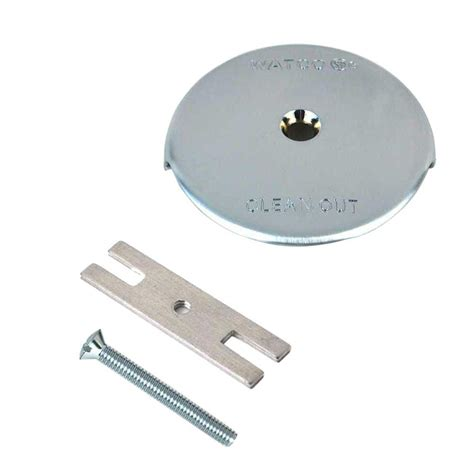 watco 1 hole bathtub overflow plate kit in chrome plated