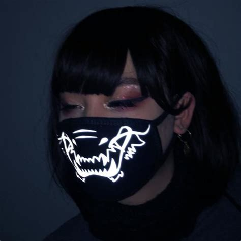 reflective dragontiger mouth mask mf