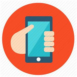 Hand, message, mobile, smartphone, social, talk icon