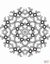 Coloring Kaleidoscope Mandala sketch template