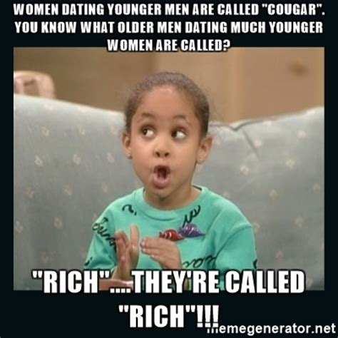 Cougar Memes - women dating younger men are called quot cougar quot you know what older men dating much younger women