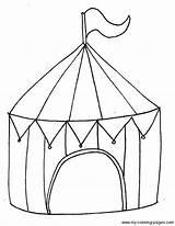 Zirkus Chapiteau Circustent Zirkuszelt Thema Onderwijs Anniversaire Kinderkram Trapeze Garderie Thèmes Artisanat Tente Freeprintablecoloringpages Basuh Designlooter μετάβαση sketch template