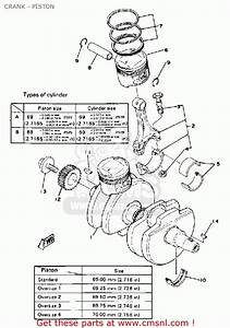 Yamaha Xs400-2 1978 Usa Crank - Piston