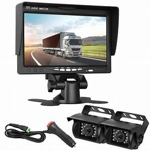 Dohonesbest Dual Backup Cameras And 7 U0026quot  Lcd Monitor System