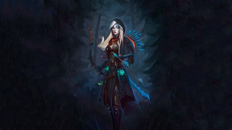 dota  drow ranger archers wallpapers hd desktop