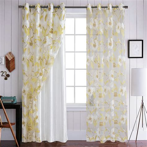 yellow sheer curtains yellow flower sheer curtains customize sheer curtains