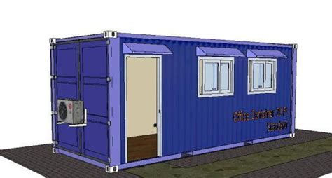 office container  skp detail  sketchup designs cad