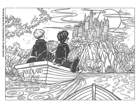 Harry Potter In Poudlard Coloring Pages