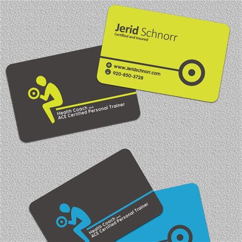  fitness personal trainer bodybuilder workout dark business card. Personal Trainer Business Card   Business card contest