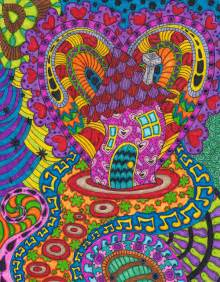 Psychedelic Mushrooms Drawings
