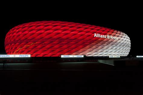 Led Arena Lights - allianz arena lit with leds for upcoming fc bayern munich
