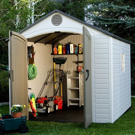 Storage Houses For Backyard by Lifetime 8 Ft W X 10 Ft D Plastic Storage Shed Reviews