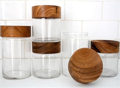 wooden canisters kitchen wood glass canisters accessories better living