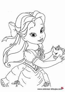 Dibujos Colorear Princesas Bebes Bella Colorear Bella Pinterest Colorear Princesas