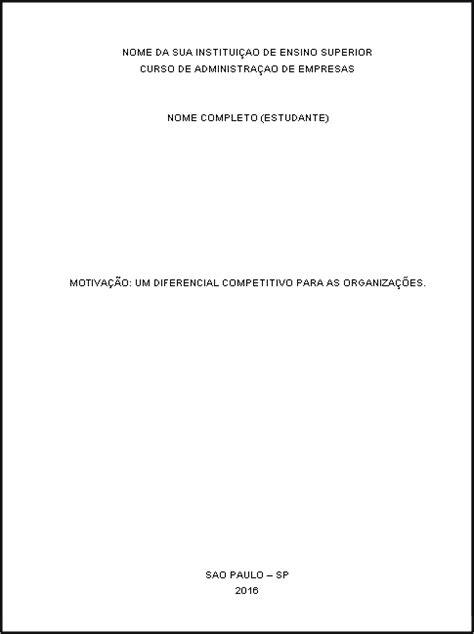 modelo de artigo em word nas normas da abnt 2016 como como fazer capa de trabalho acadêmico nas normas da abnt