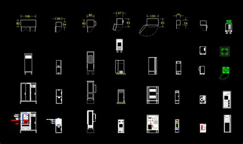 cabinets  rack templates  autocad cad  kb