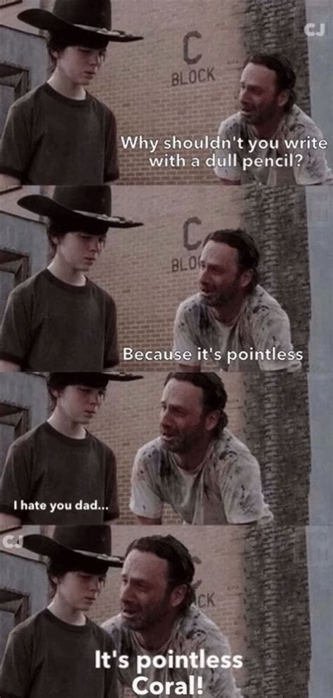 Walking Dead Rick And Carl Meme - the walking dead happy father s day with rick and carl memes
