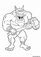 Coloring Pages Gremlins Gremlin Giant Scary Ogre Trolls Gizmo Colouring Troll Firefly Characters Printable Robot Print Creatures Giants sketch template