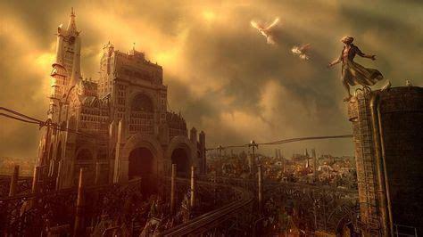 Fantasy Steampunk City HD Wallpapers, Desktop Backgrounds, Mobile ...   Wallpaper desktop in ...