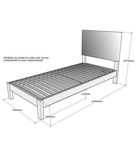 single mattress size lancaster single solid oak bed with integrated upholstered