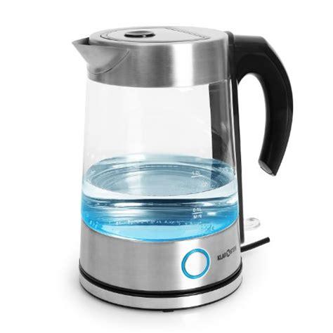 water kettle klarstein cordless pure glass electric 2200w burco urn tea kettles led swan boiler stainless steel commercial casing