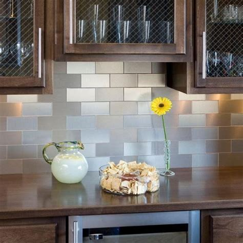 stick on backsplash contemporary kitchen stainless steel self adhesive