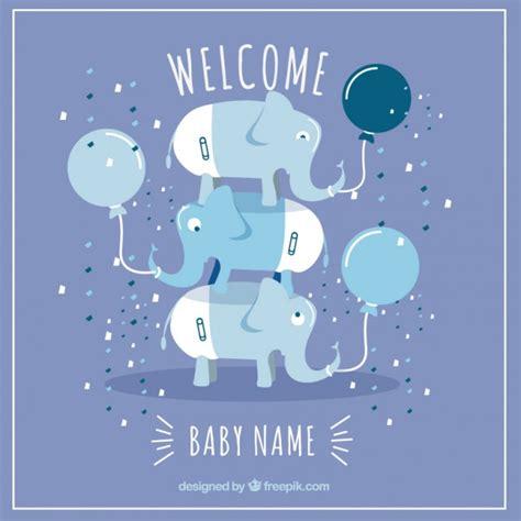 tarjeta de bienvenido bebe descargar vectores gratis