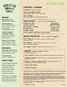 Restaurant ReviewGluten Free Menu at Bonefish Grill