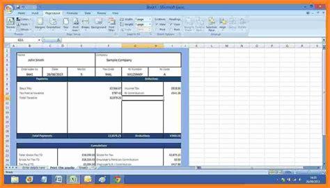 salary payslip template excel simple salary slip